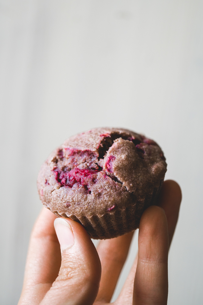Vegan Raspberry Breakfast Muffins 6