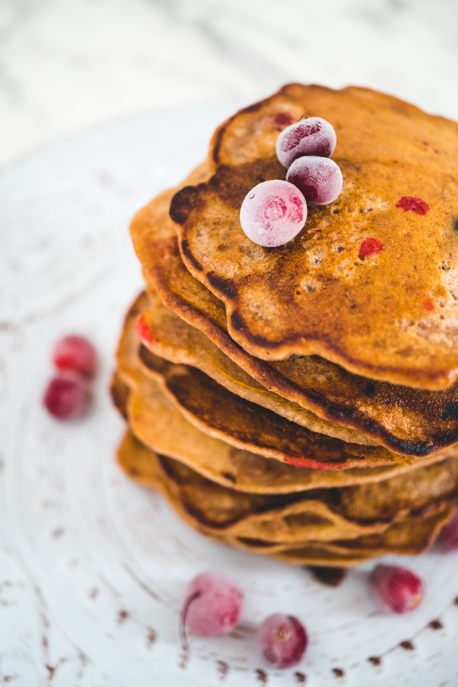 apple cranberry pancakes