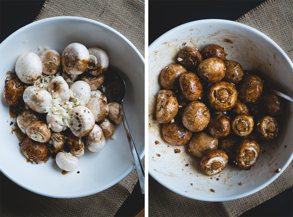 balsamic roasted garlic mushrooms