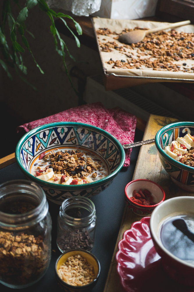 banana and cherry granola
